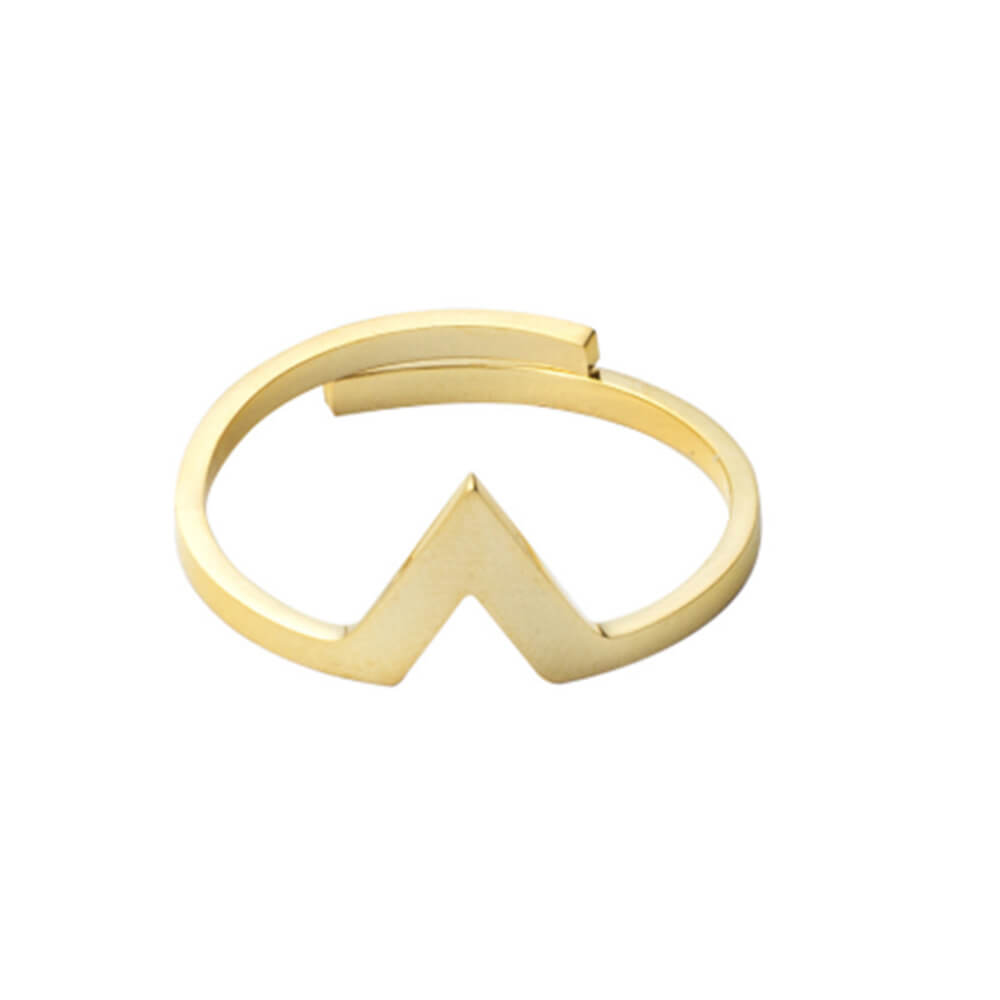 This is a letter v ring.