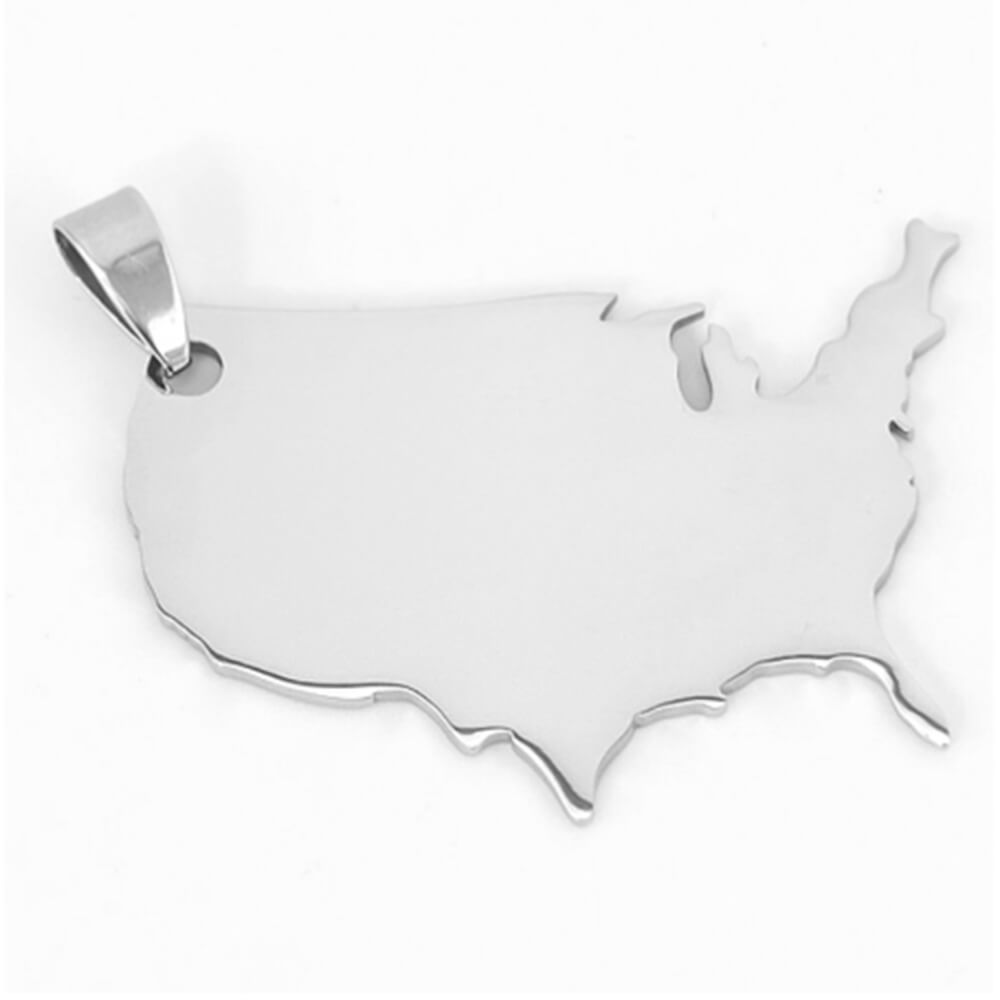 This is a usa map pendant.
