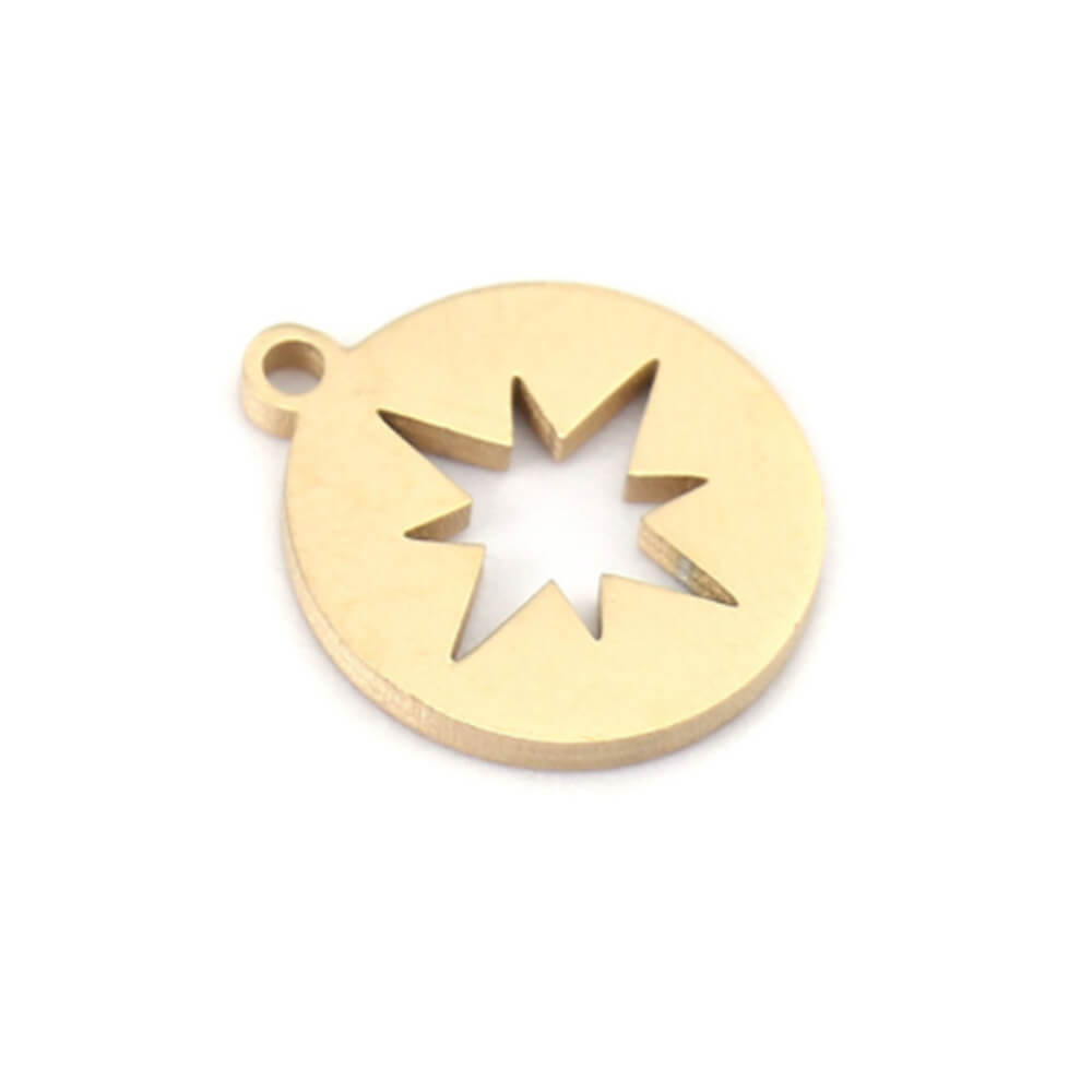 This is a round star pendant.