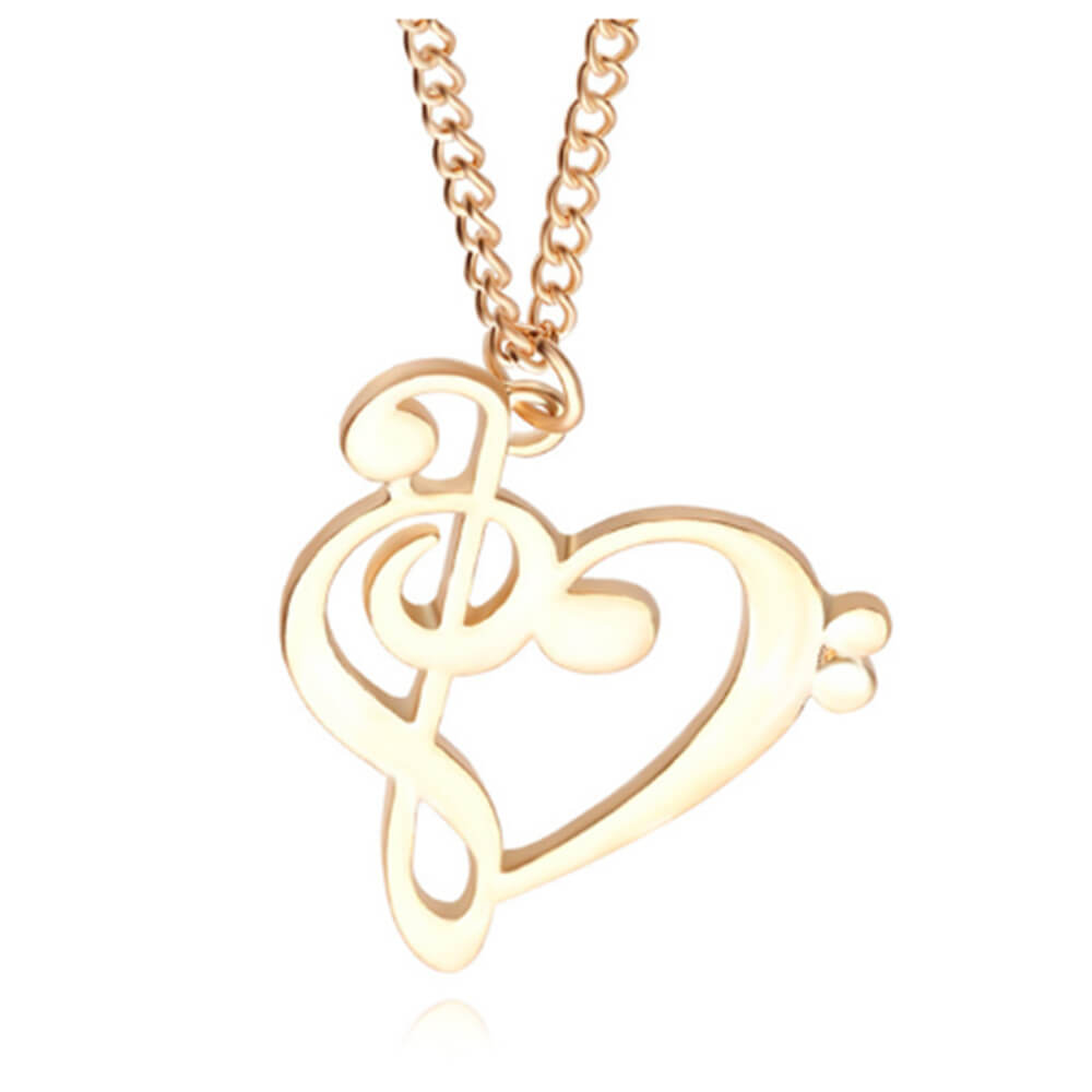 This is a heart music necklace.