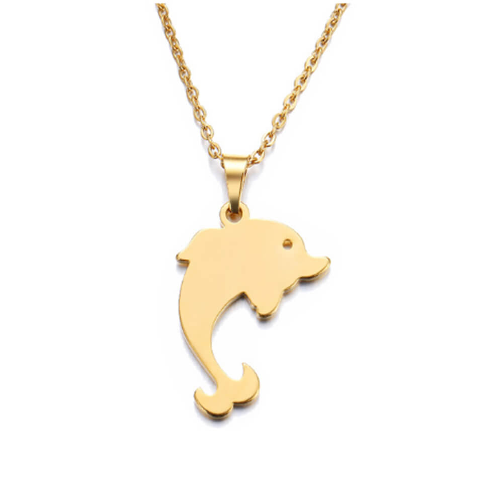 This is a dophin necklace.