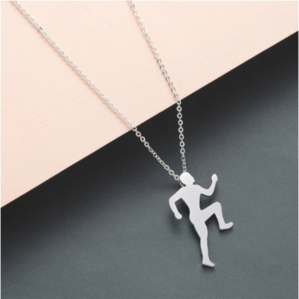 This is a running men necklace.