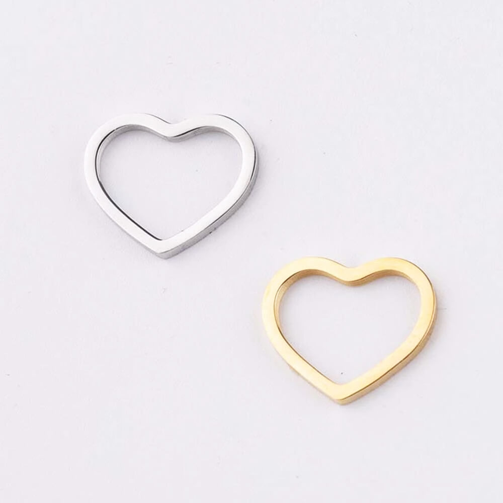 Two Colors Heart Pendant