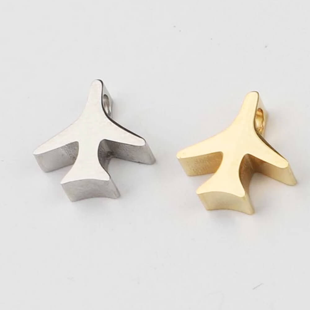 Two Colors Airplane Charms Jewelry