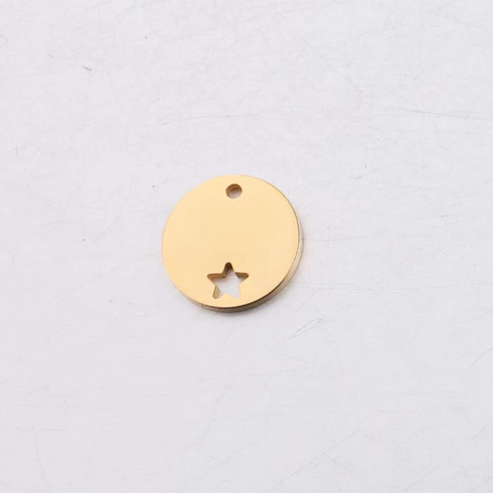This is gold circle pendant