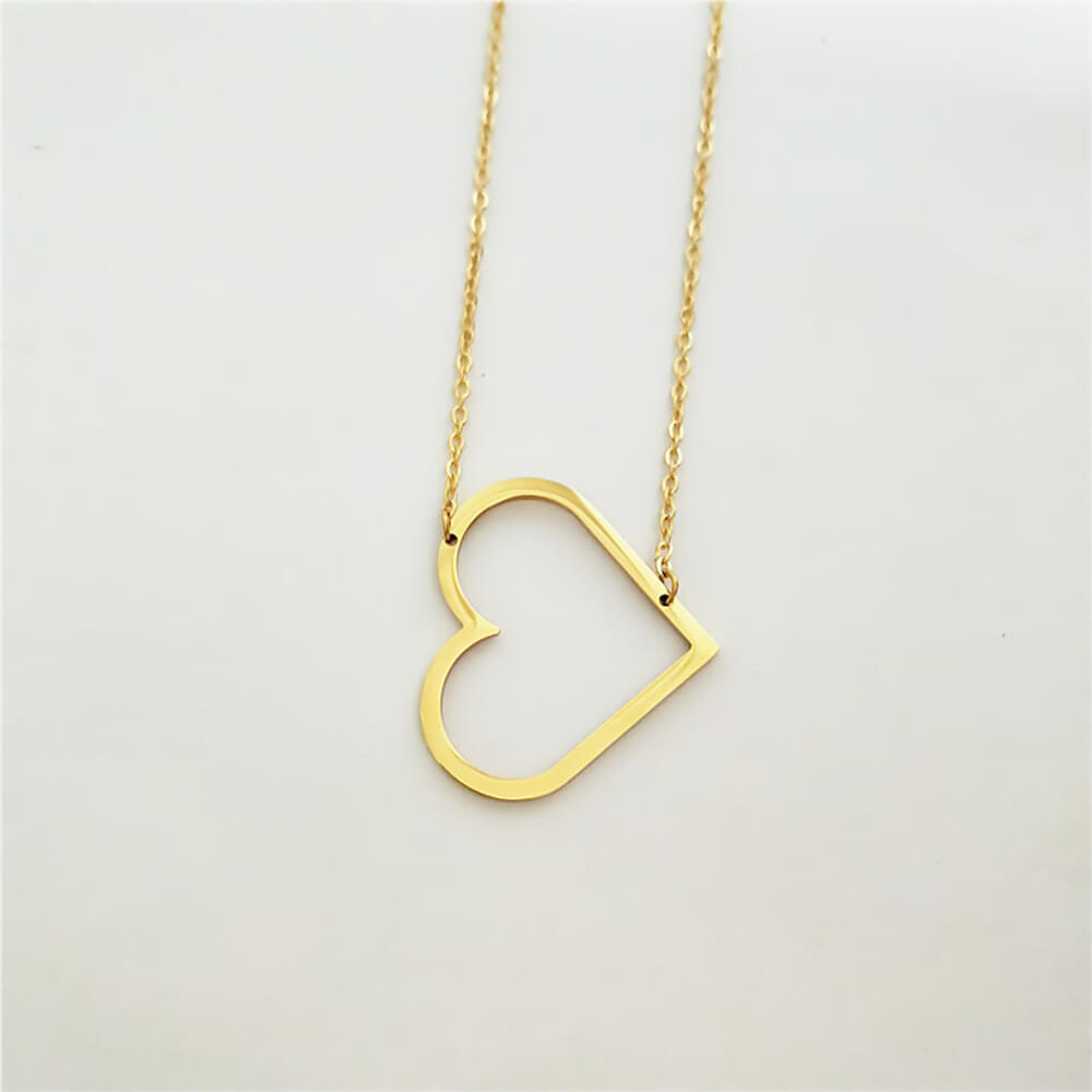 This is heart shaped charm necklace.