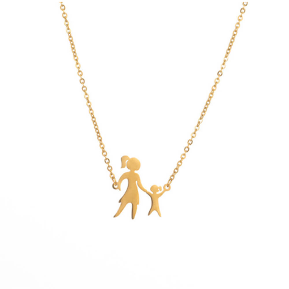 This is a girl and mom necklace.