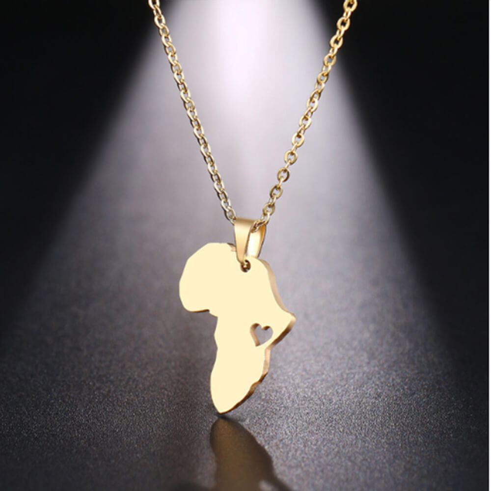 This is africa map pendant.