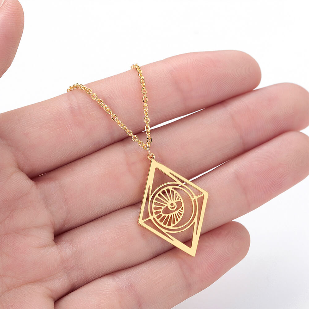 This is eye pendant necklace.