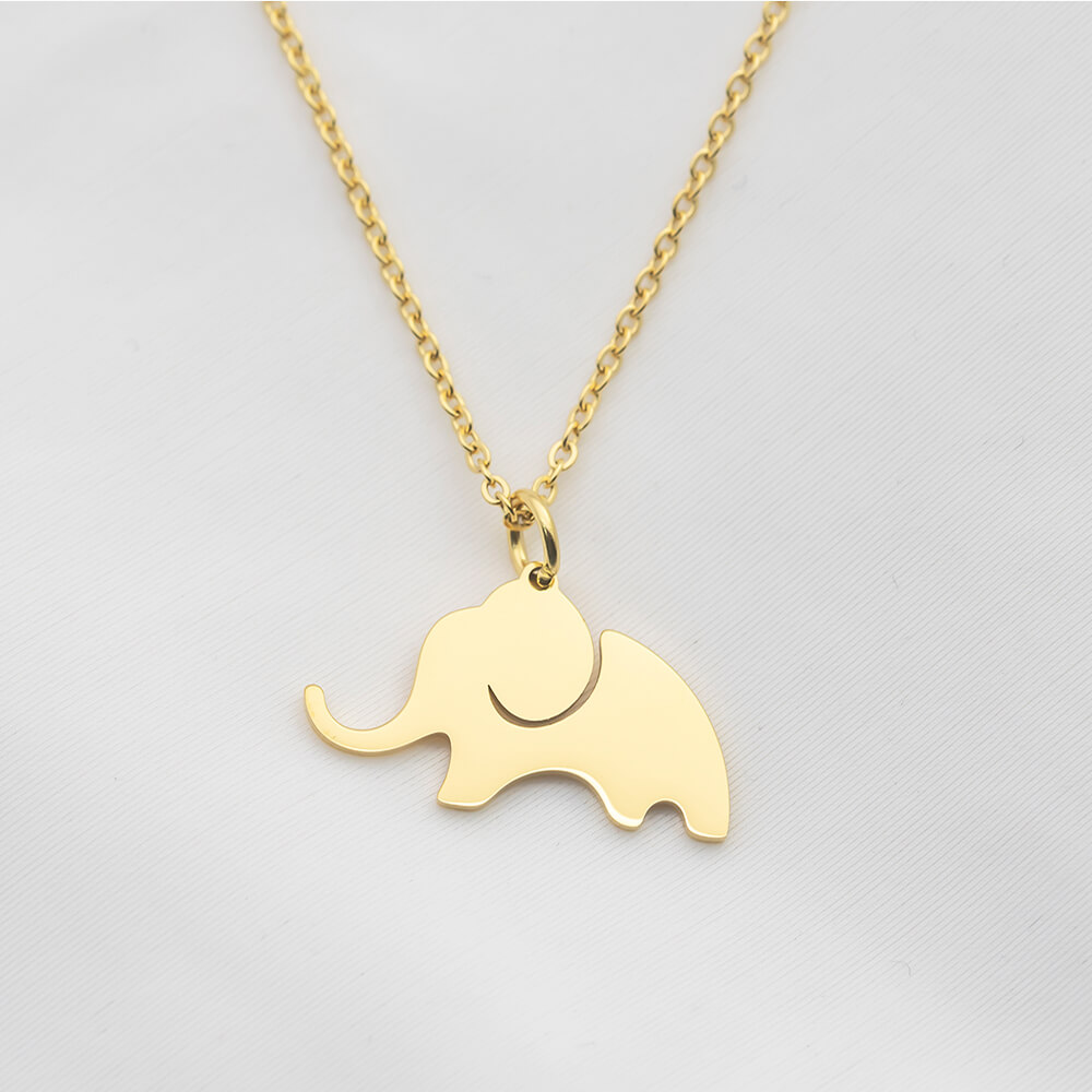 This is elephant pendant necklace.