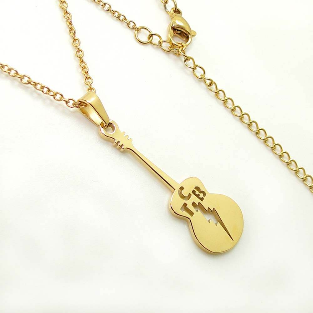 This is a guitar necklace.