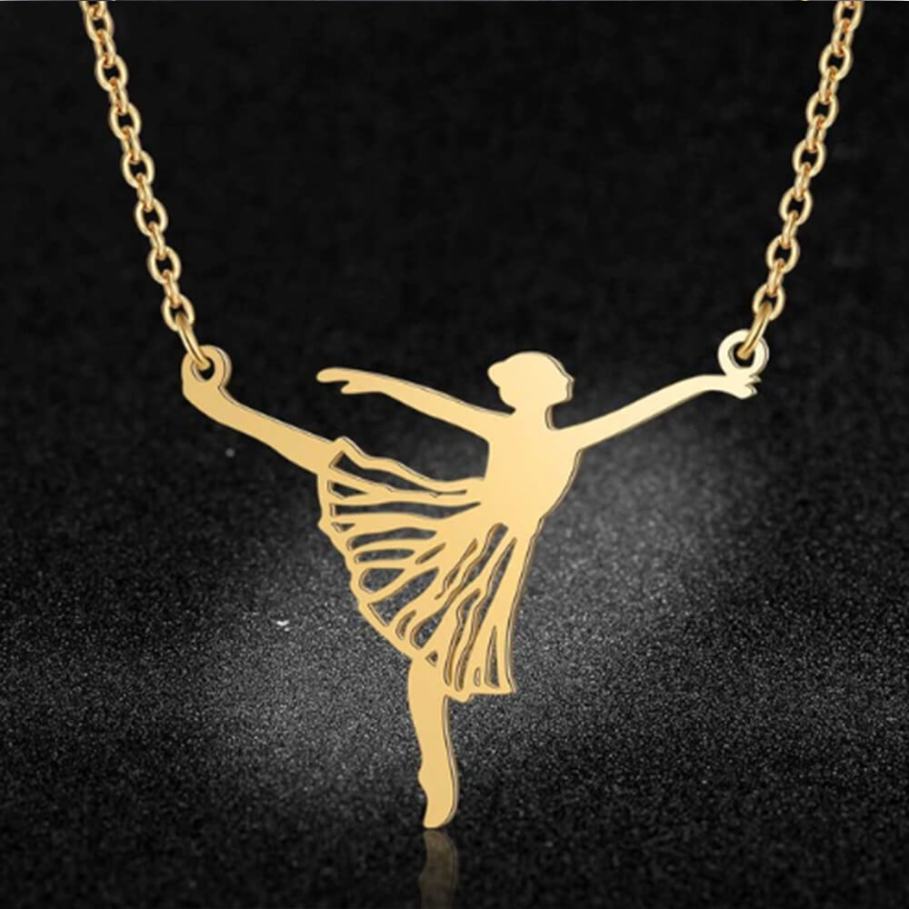 This is dancer pendant necklace.