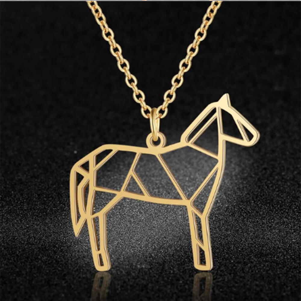 This is horse pendant necklace.