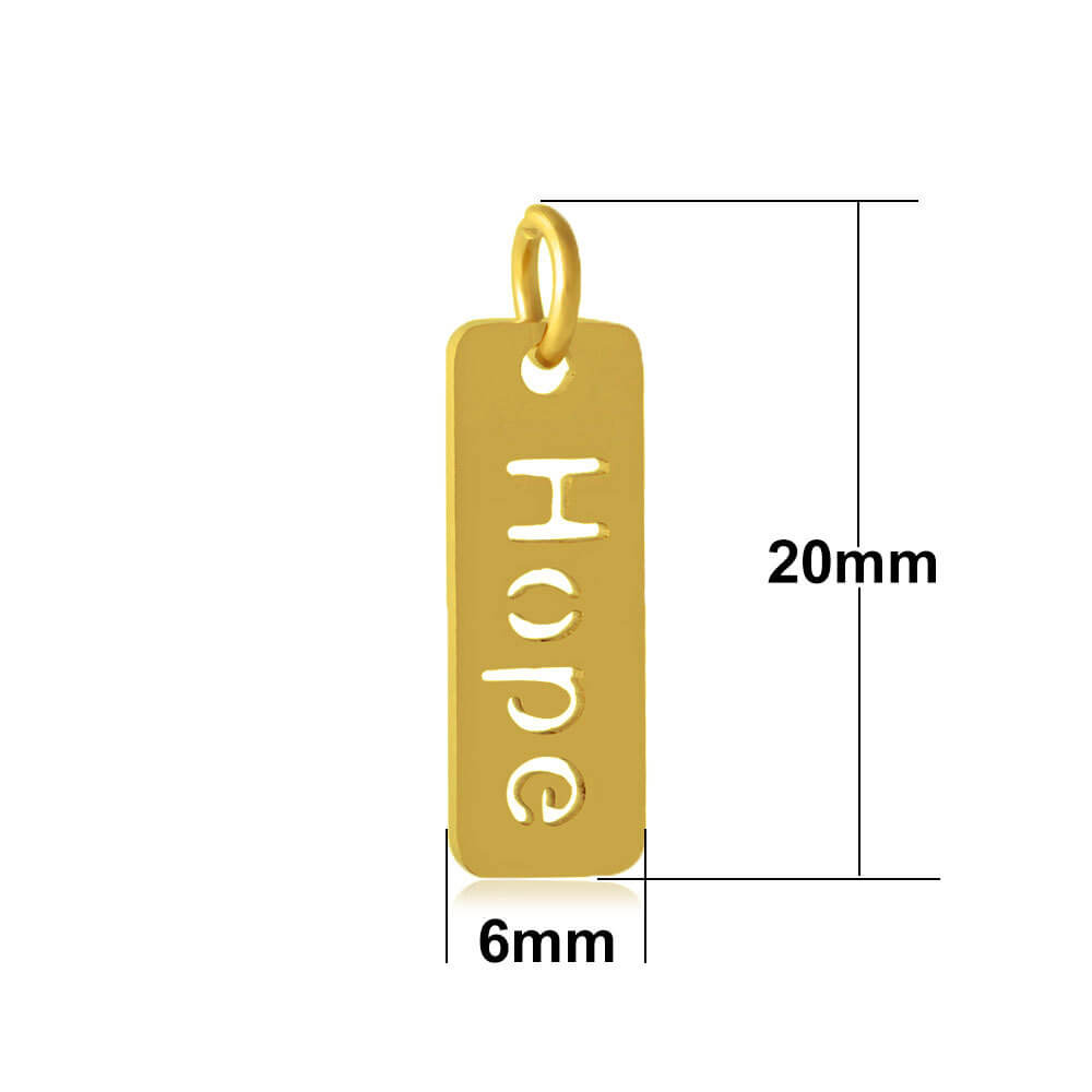 This is a rectangular pendant.