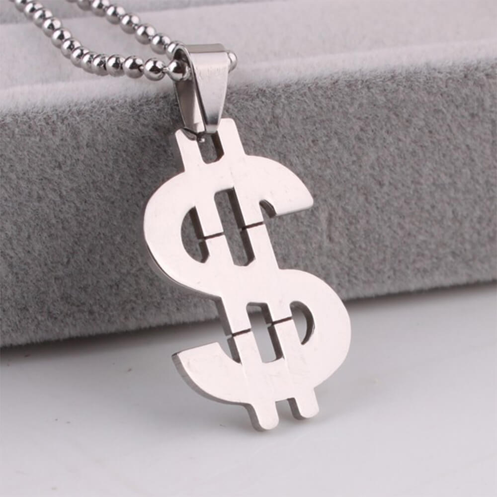 This is a dollar necklace.
