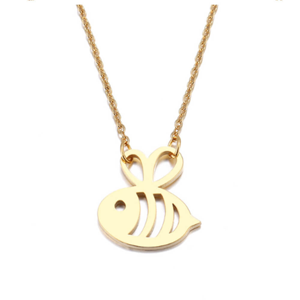 This is honeybee pendant necklace.
