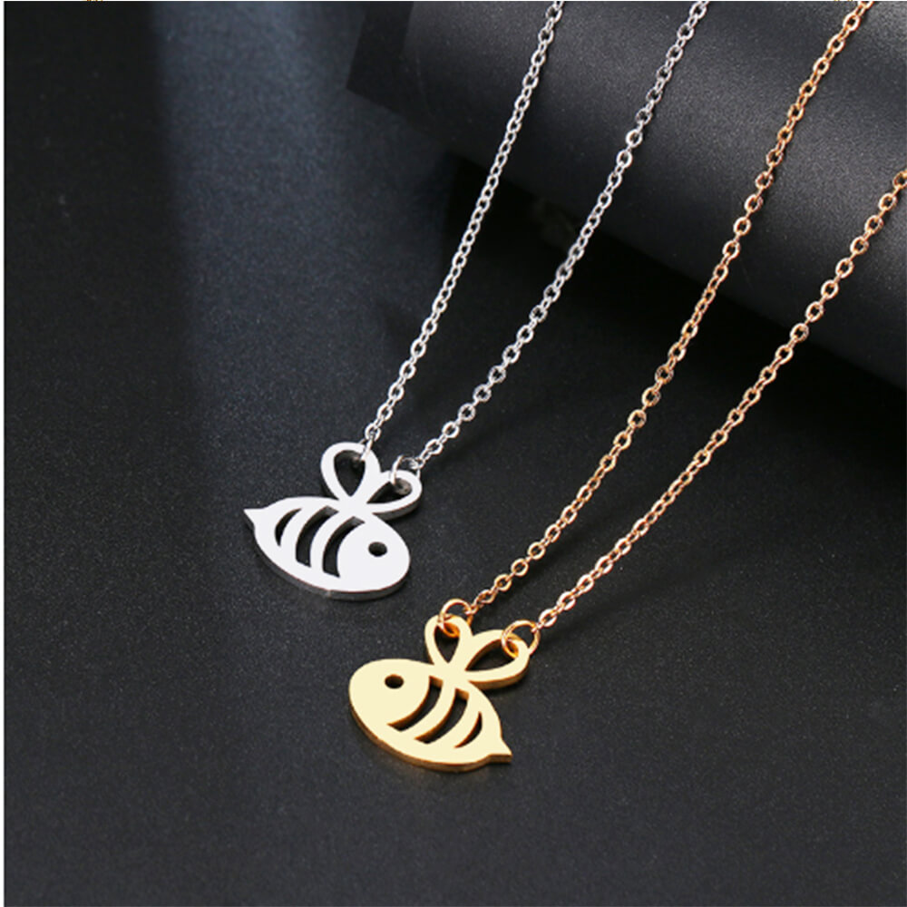 This is small bee pendant necklace.