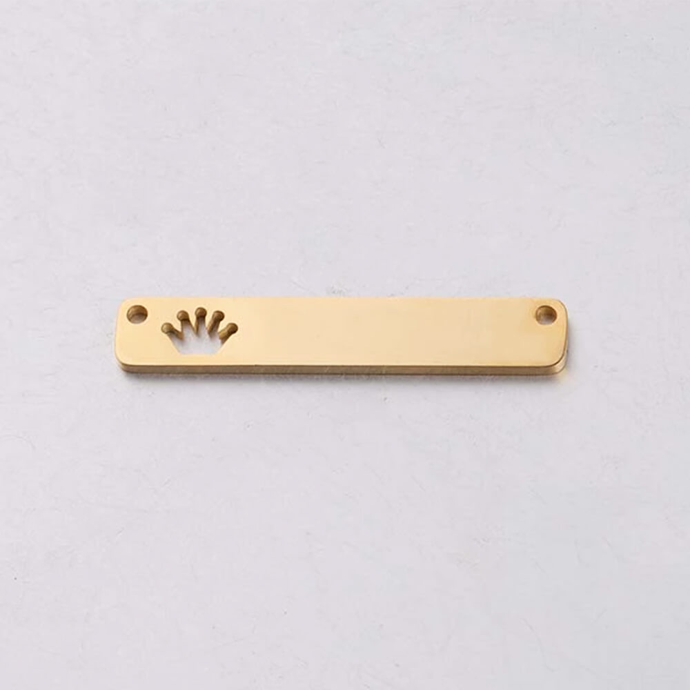 Gold Color Bar Charms Pendant