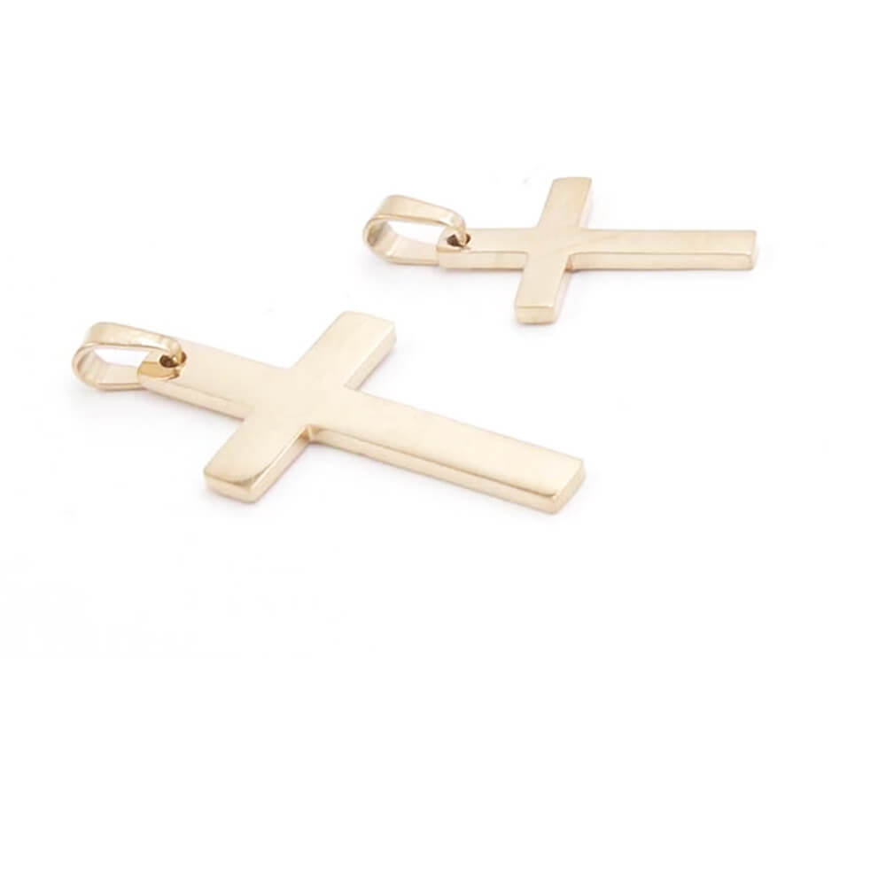 Gold Color Cross Charms Pendant