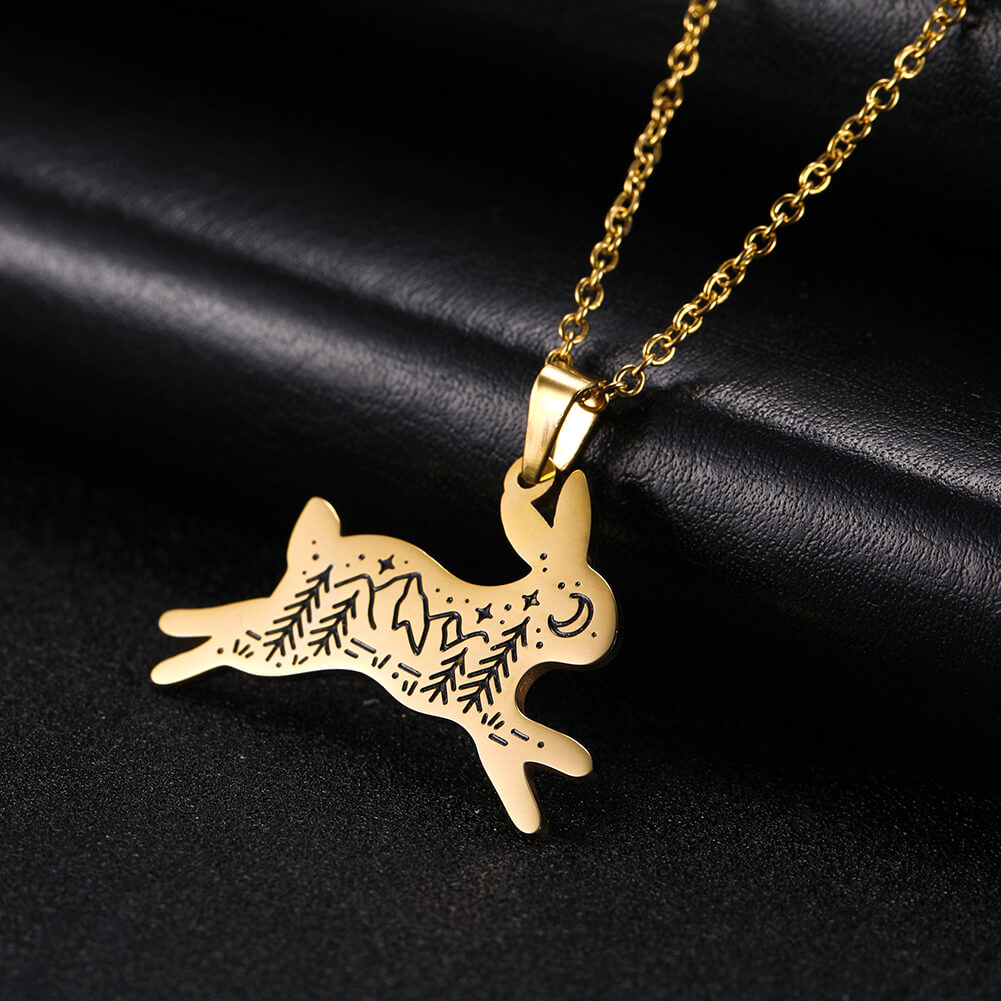 This is rabbit pendant necklace.