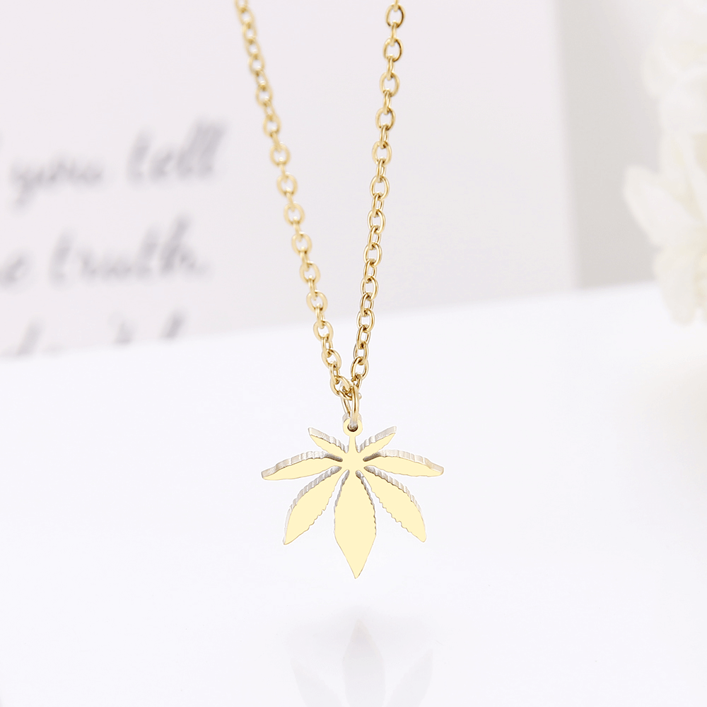 This is a maple necklace.