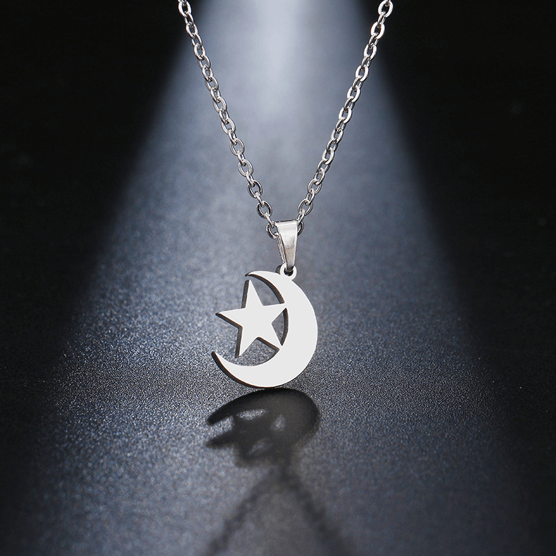 This is a moon and star necklace.