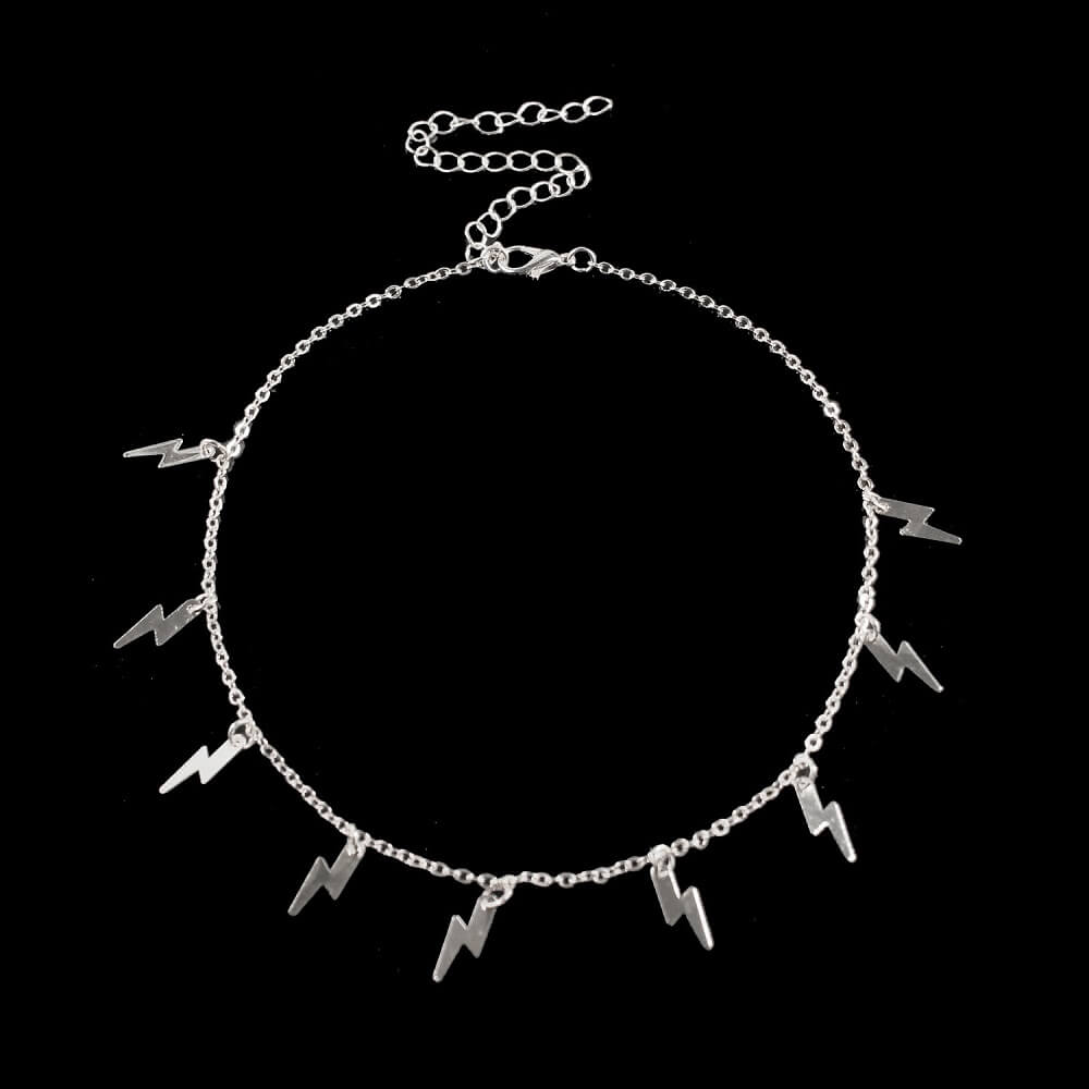 This is lightning shape choker necklace.