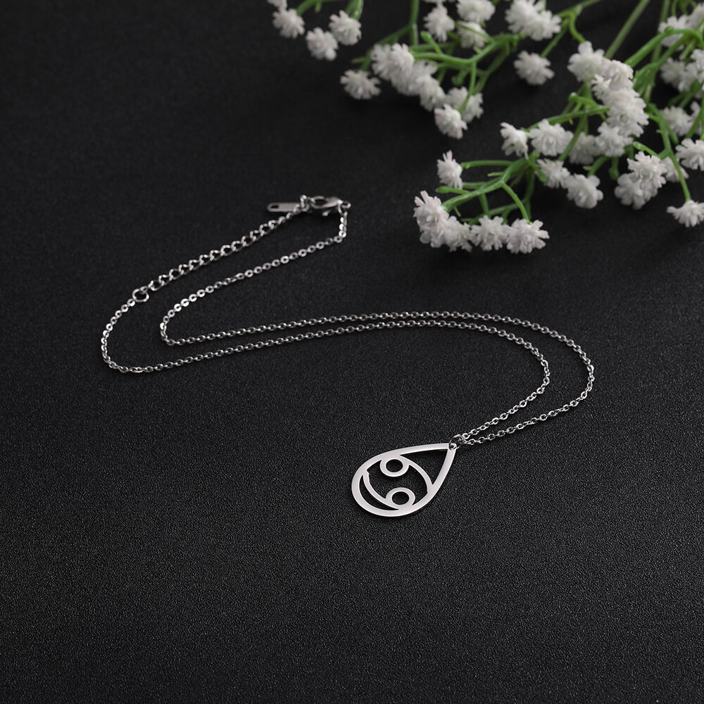 This is zodiac pendant necklace.