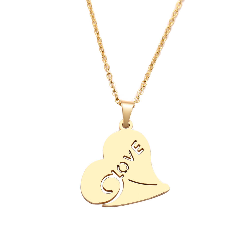This is love pendant necklace.