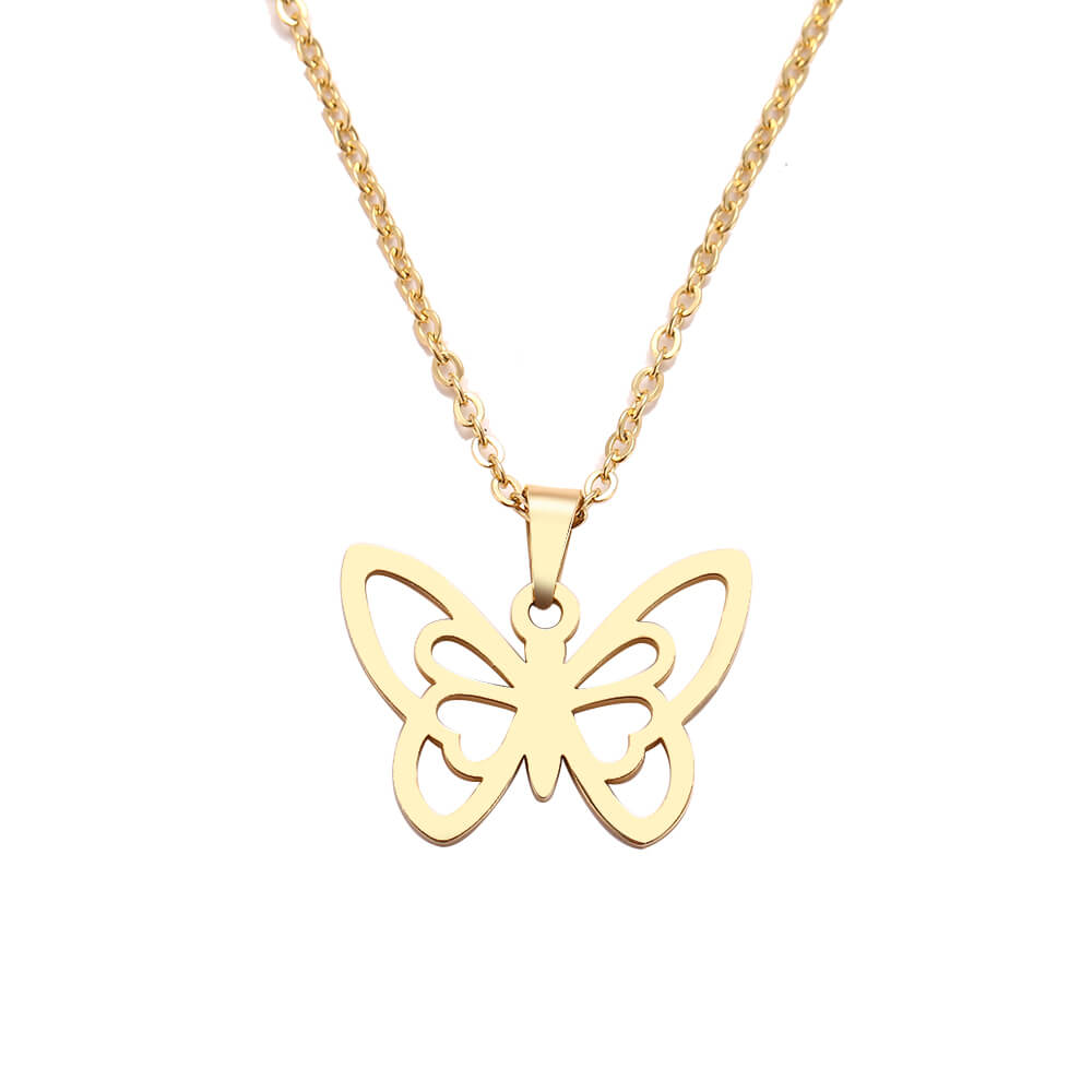 This is butterfly necklace.
