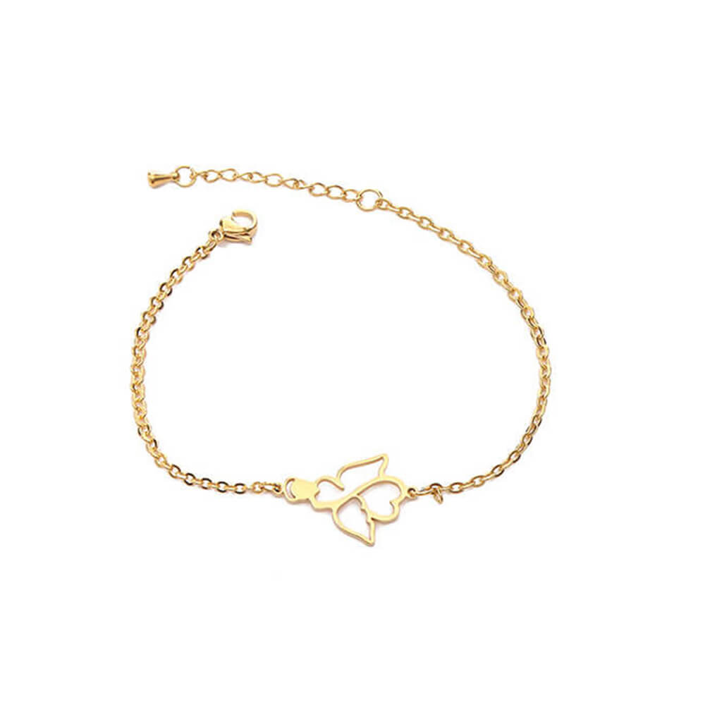 This is silver angle bracelet.