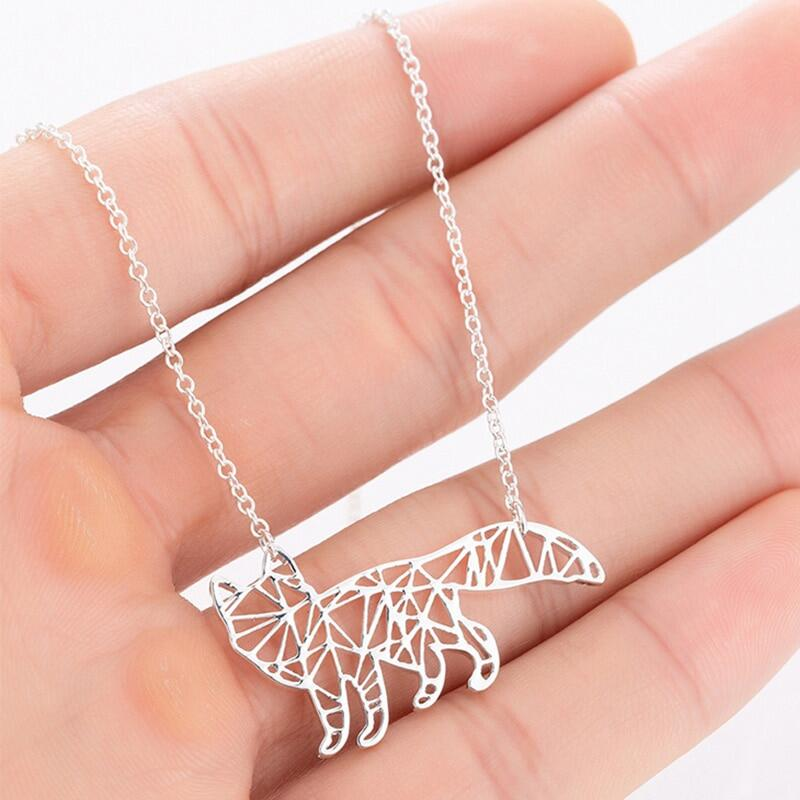 Silver Color Cat Charms Necklace