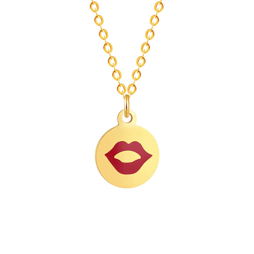 Gold Color Circle Necklace
