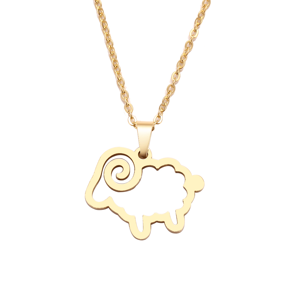 This is a sheep necklace.
