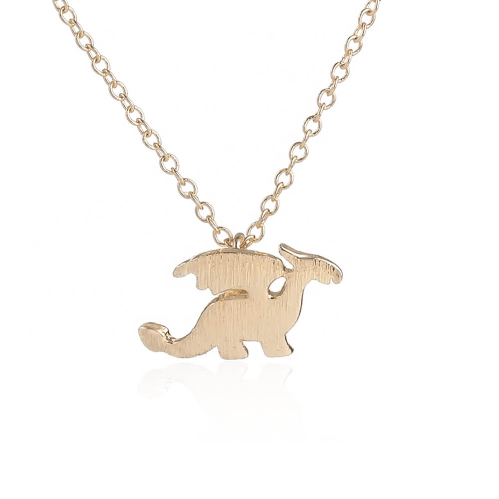 Gold Color Dinosaur Necklace