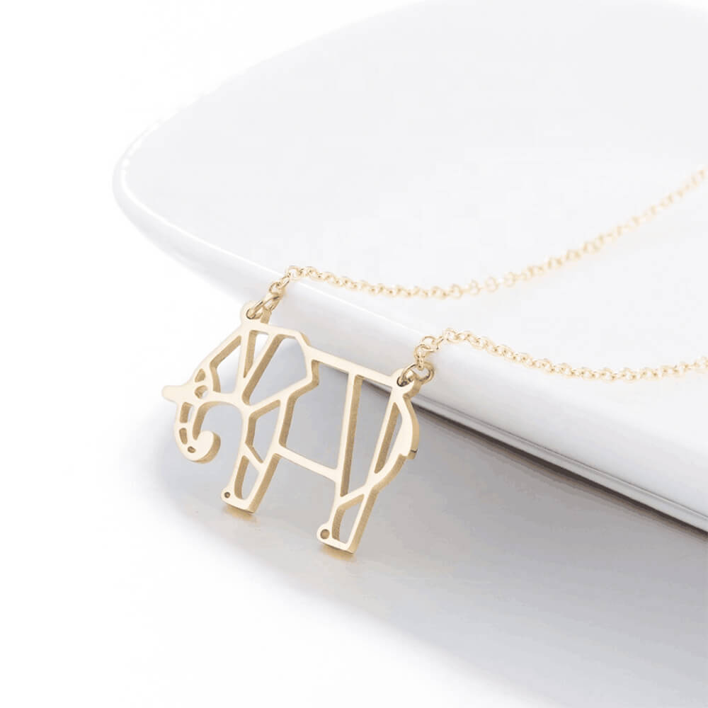 Gold Color Elephant Necklace