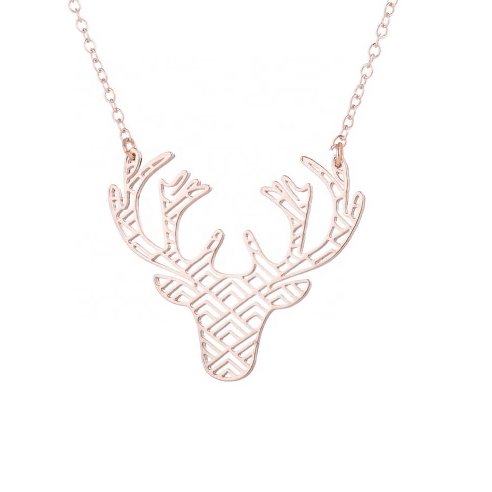 Rose Gold Color Deer Necklace
