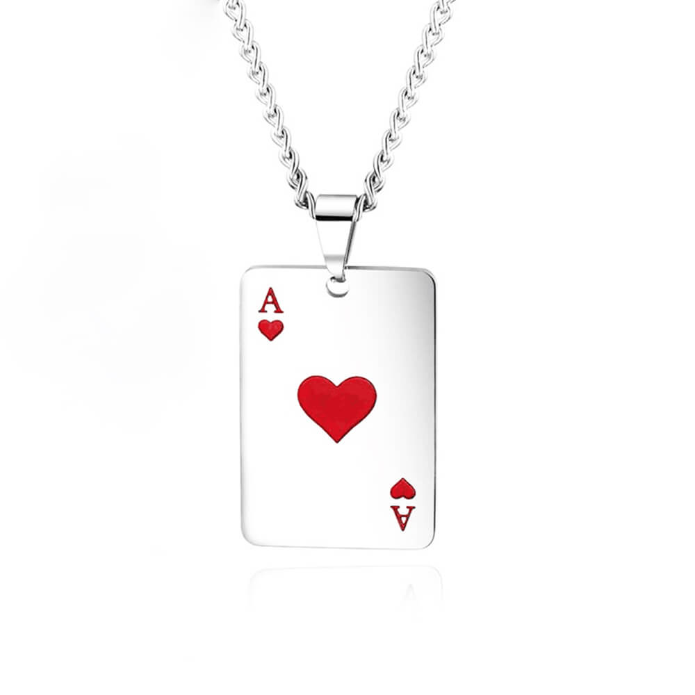 Silver Color Poker Necklace