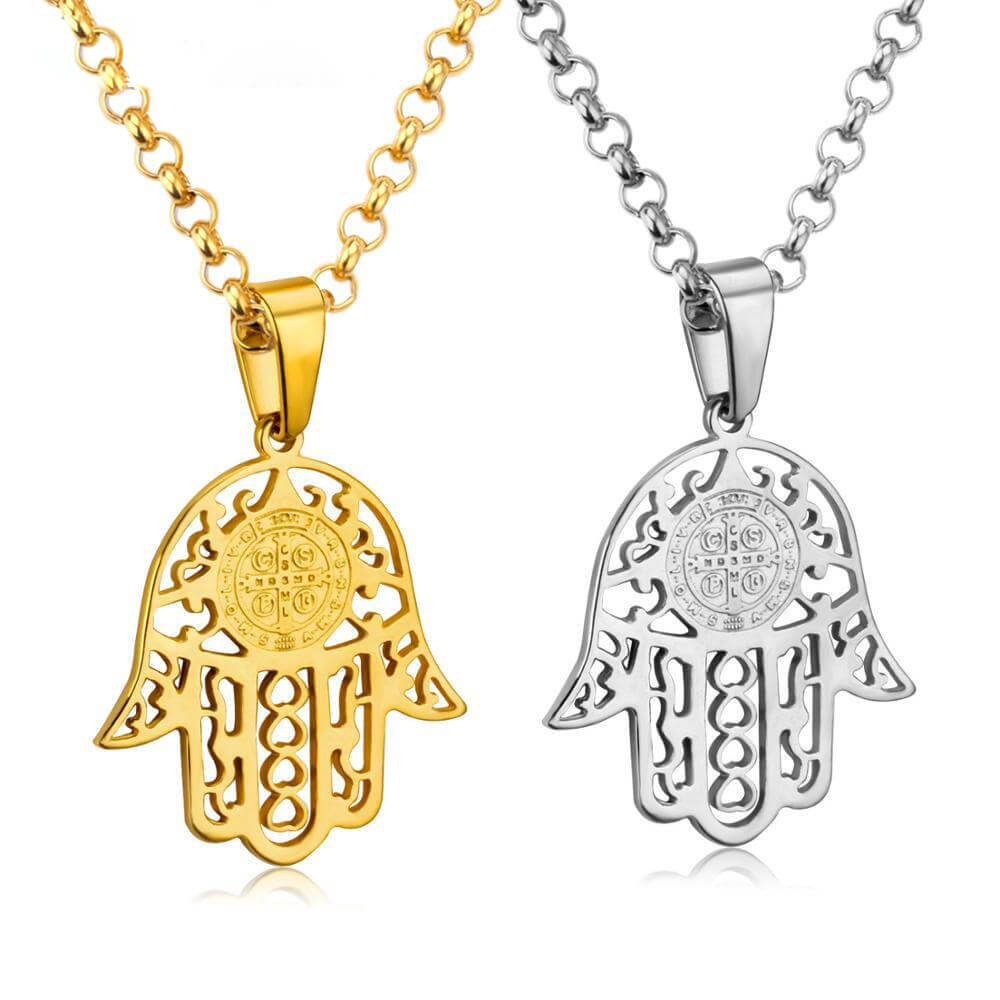Arabic Hand Necklaces