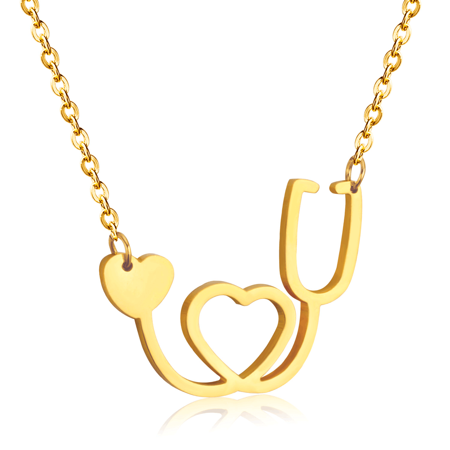 Gold Color  Heart Necklace