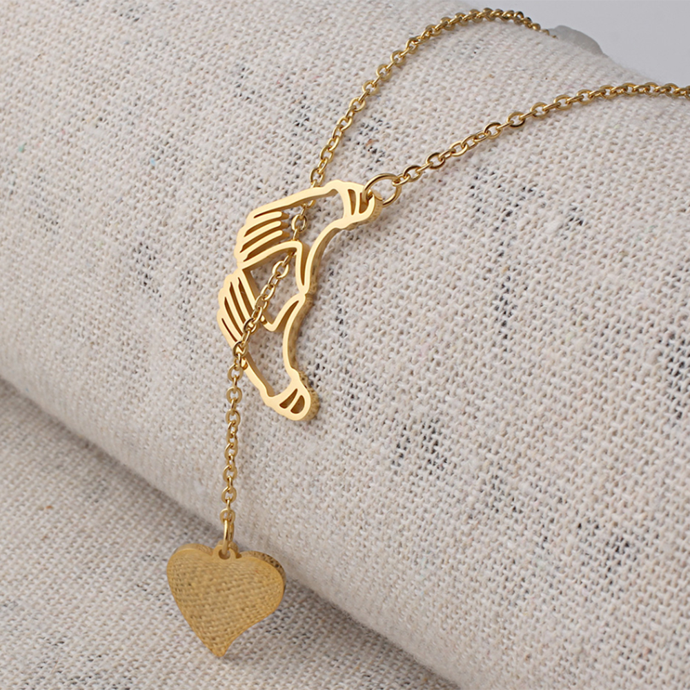 Dainty heart necklace