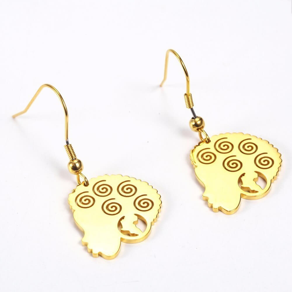 African dangle earrings