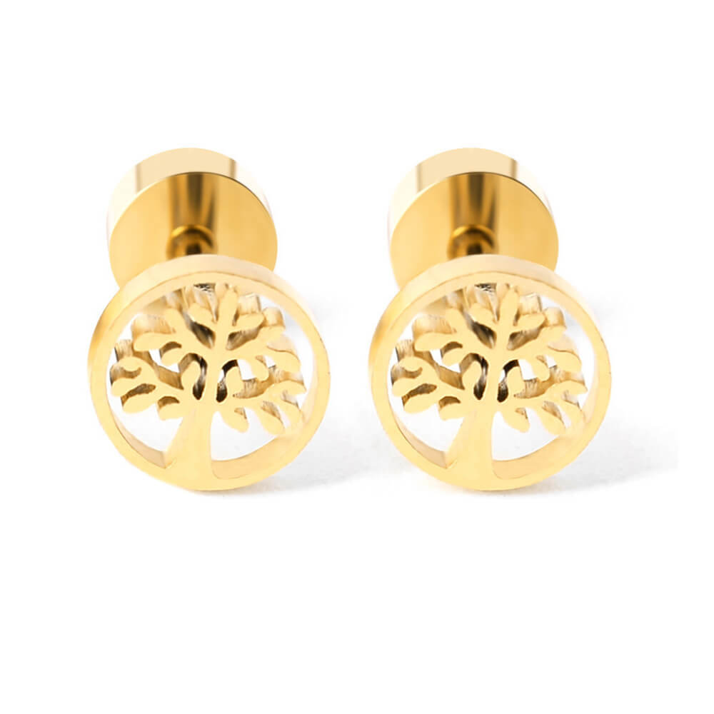 Tree od life stud earrings