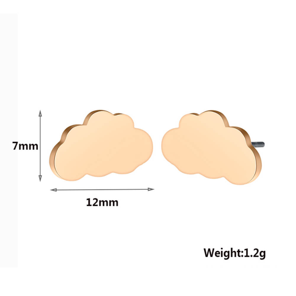 Women cloud earrings