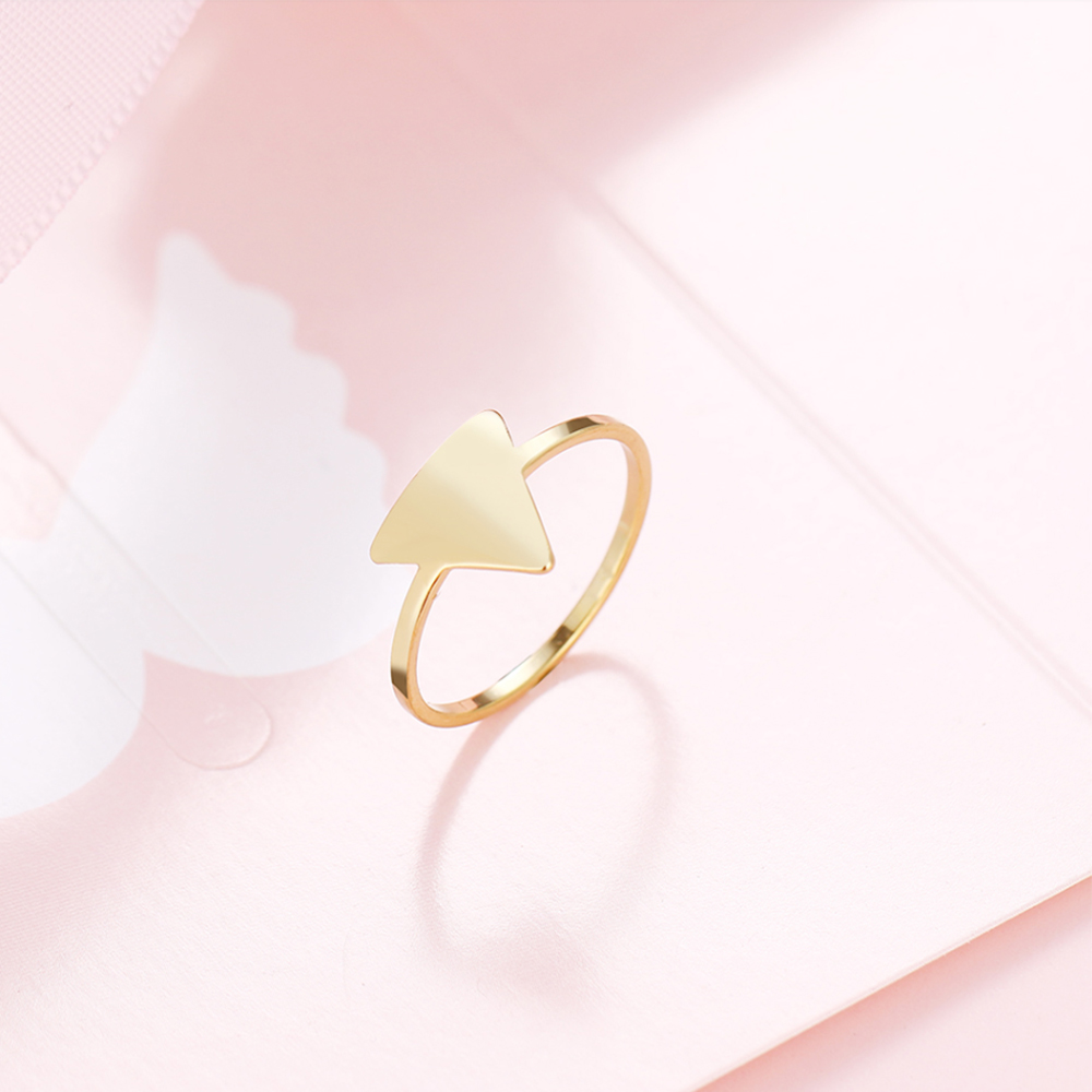 Gold triangle rings