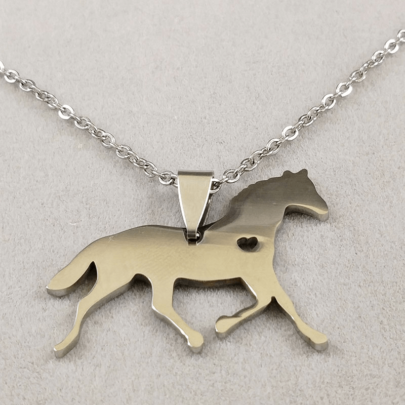 This is a horse necklace.