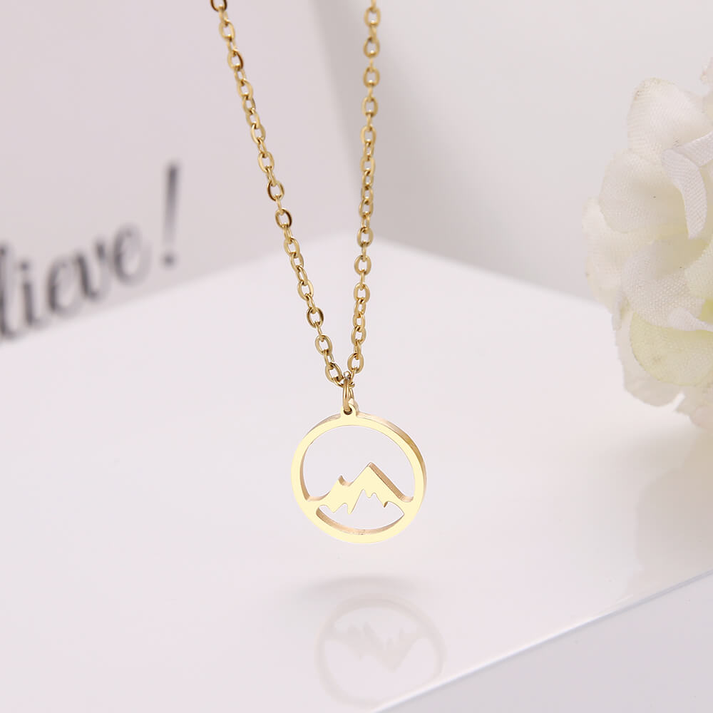 This is gold pendant necklace.