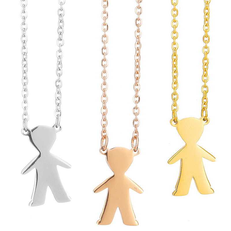 This is a boy and girl necklace.