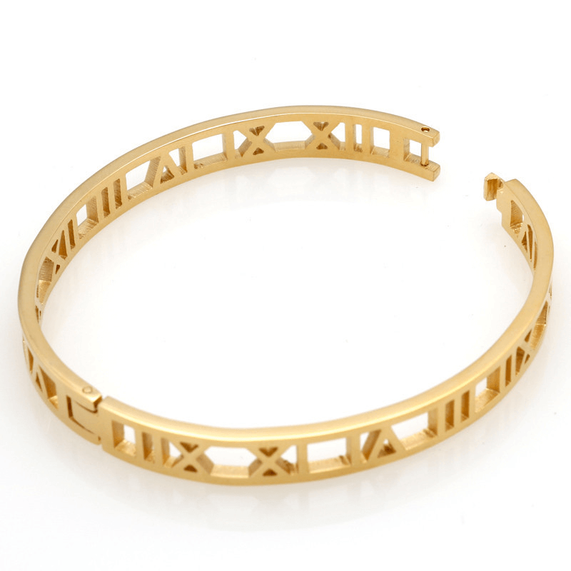 This is a Roman number bangle.