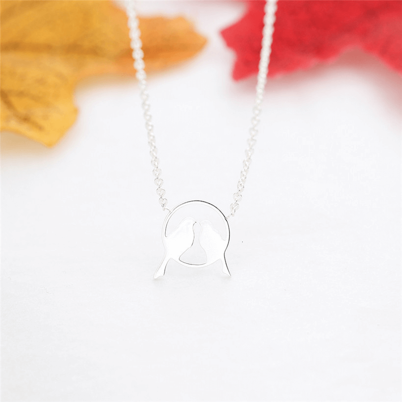 This is a bird necklace.